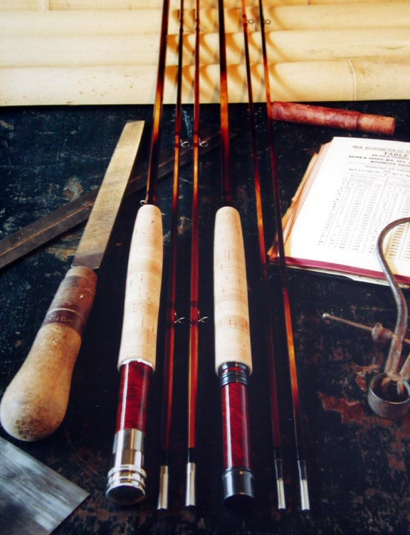 J.D. Wagner Bamboo Flyrods, Hex and Quad