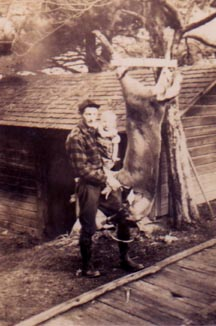 Gramps, Mom and a nice deer..back on the farm
