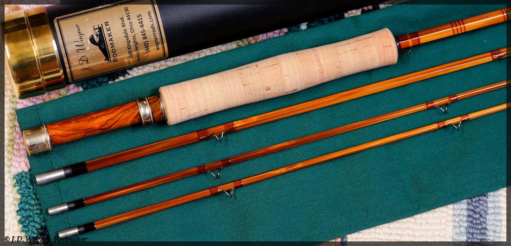 Mid Century Bamboo 16/' Fishing Rod,