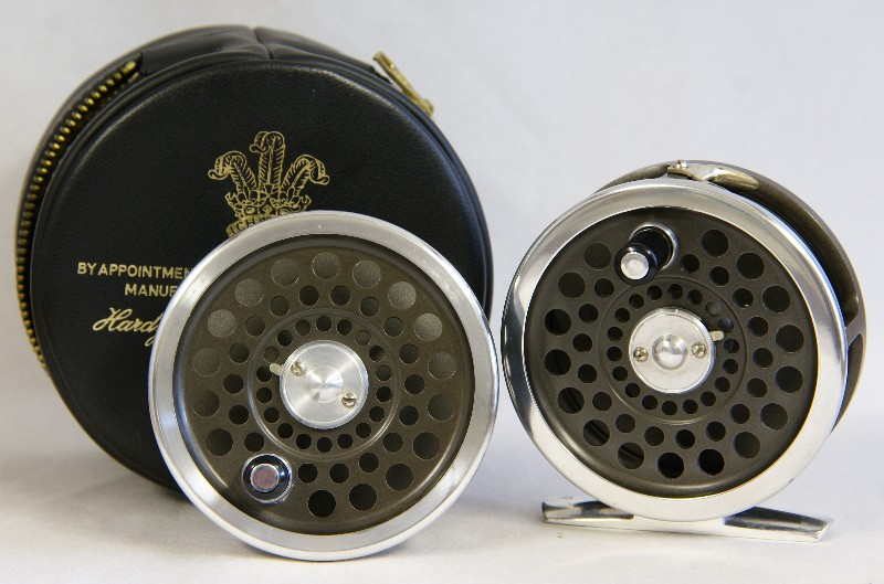 Vintage Hardy Marquis #4 reel ~ J.D. Wagner, Agent