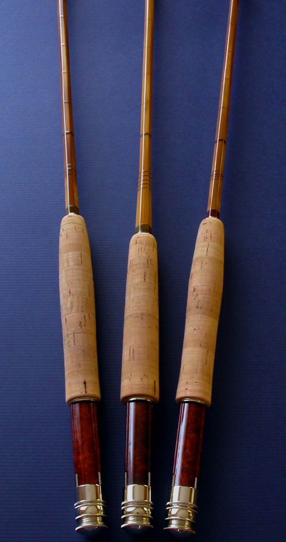 A set of three J.D. Wagner rods