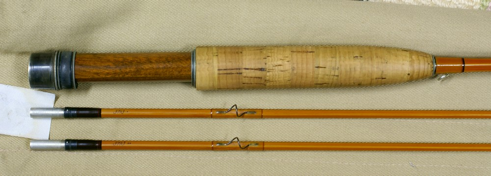 Vintage Thomas and Thomas cane rod, J.D. Wagner, Agent