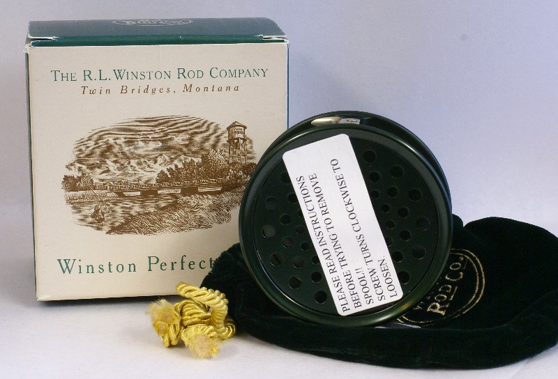 "Mint, unused Winston Perfect 3 1/4"" reel , J.D. Wagner, Agent"